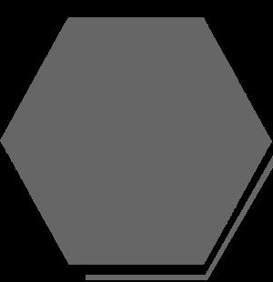 Green background hexagon