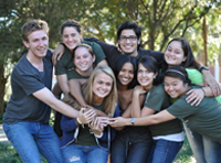 Students posing for a picture