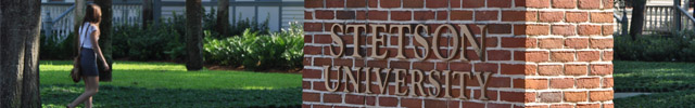Stetson University's main entrance
