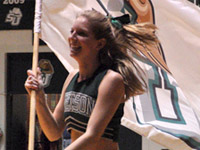 Cheerleader with Flag