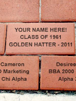 engraved brick