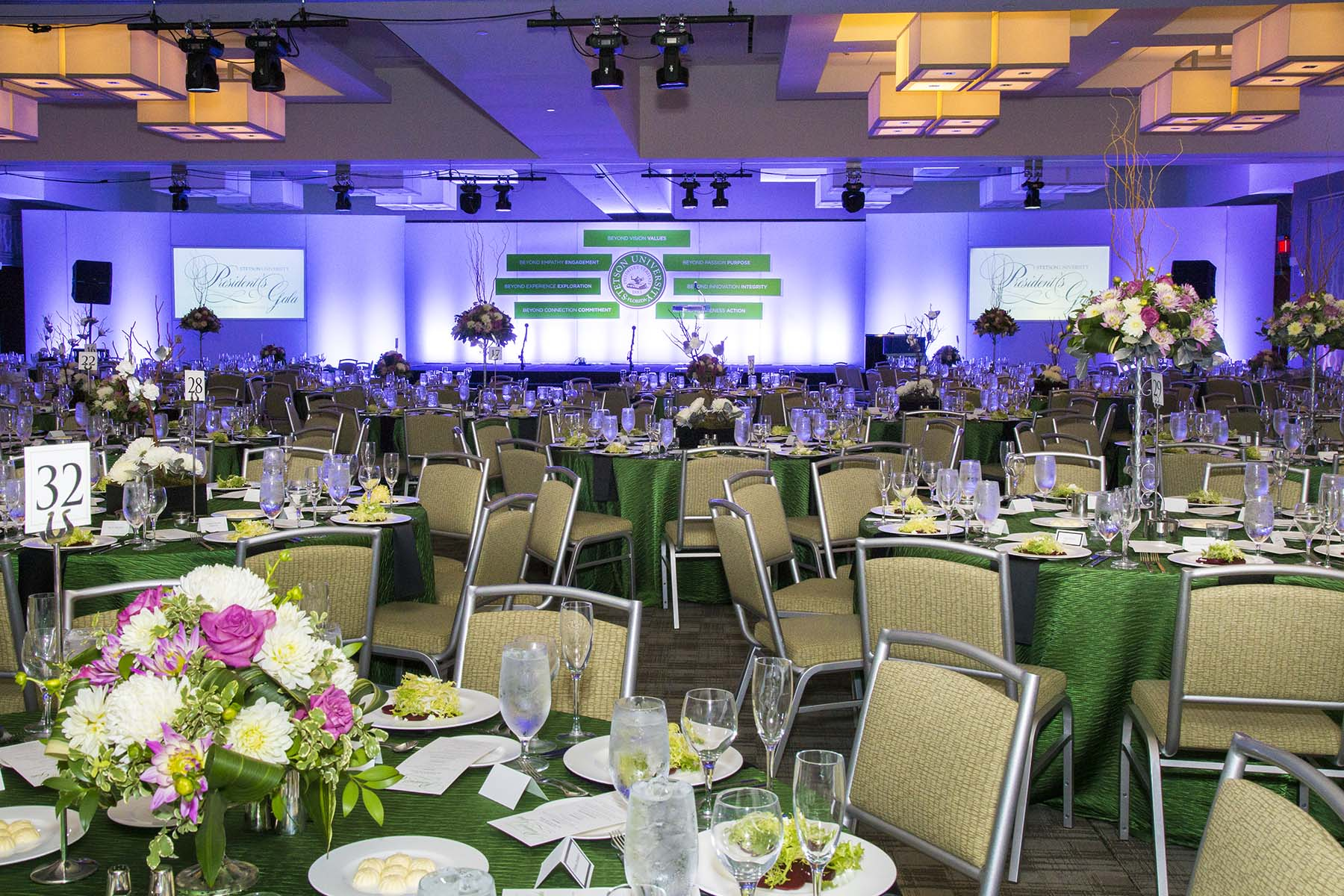 A gala all setup before the event