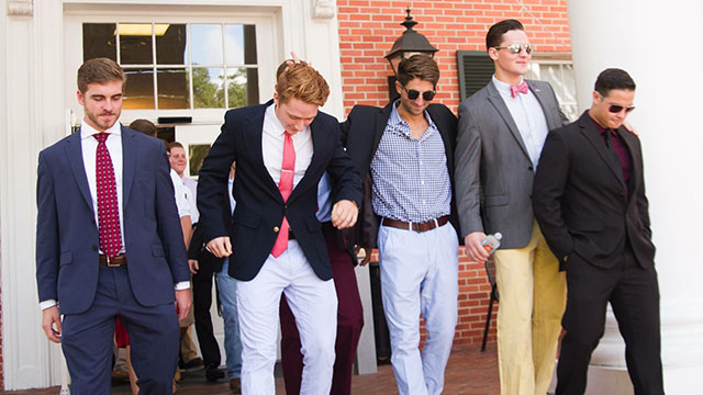 Fraternity Dressed to Pin