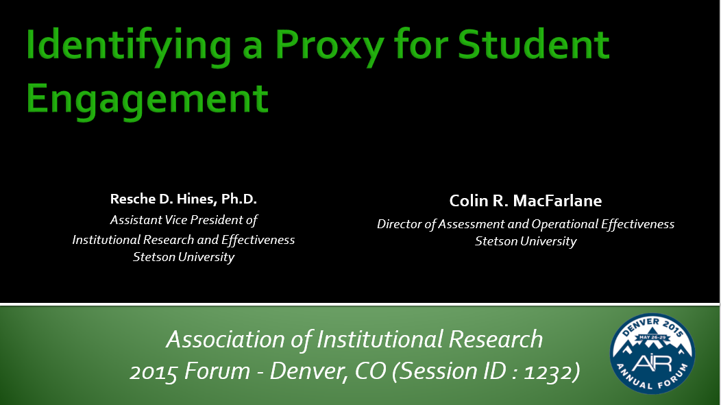 Identifying a Proxy for Student Engagement