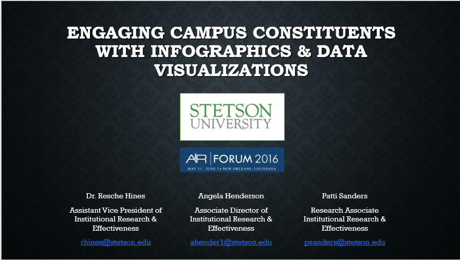 Engaging Campus Constituents with Infographics & Data Visualizations