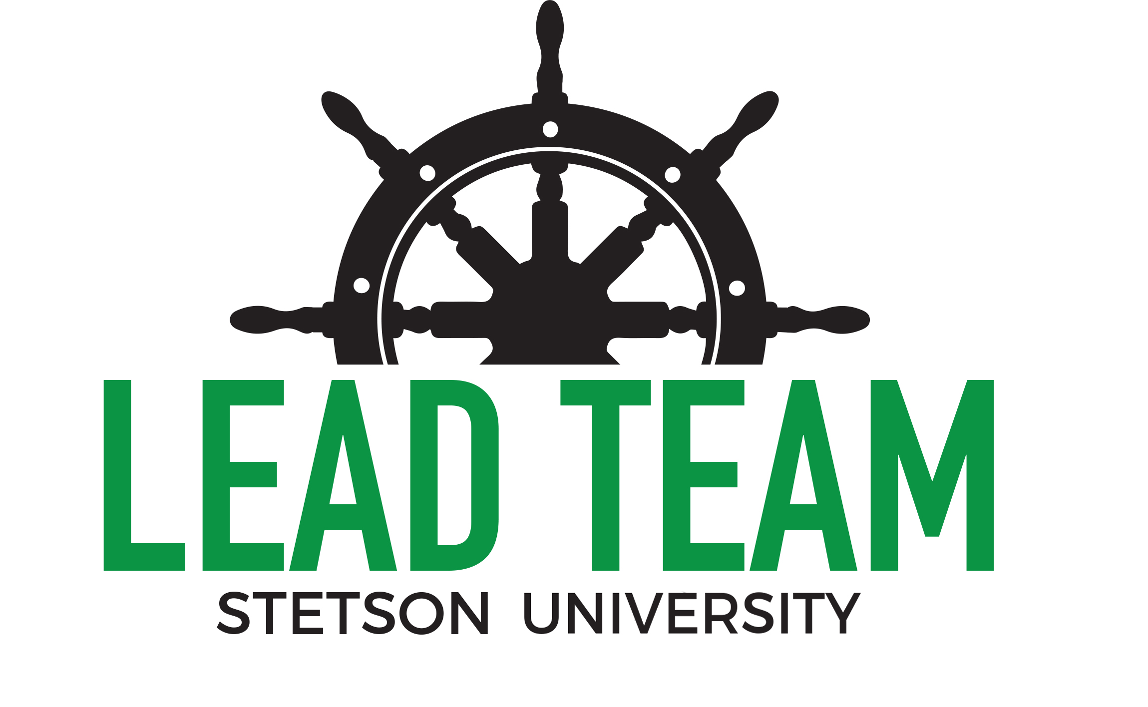LEAD Team Logo - Ship wheel with LEAD Team written underneath