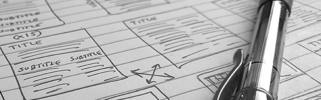 Wireframes of Web Pages