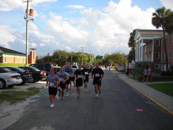 cadets running