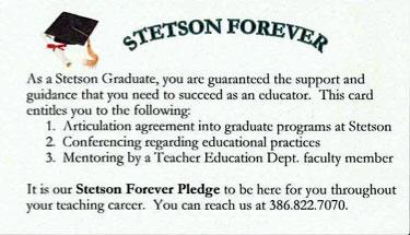 Stetson Forever Pledge