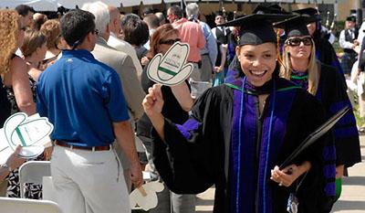 Female College of Law Student Graduates