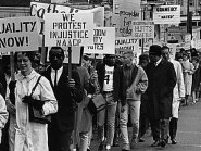 Protest with Picket Signs