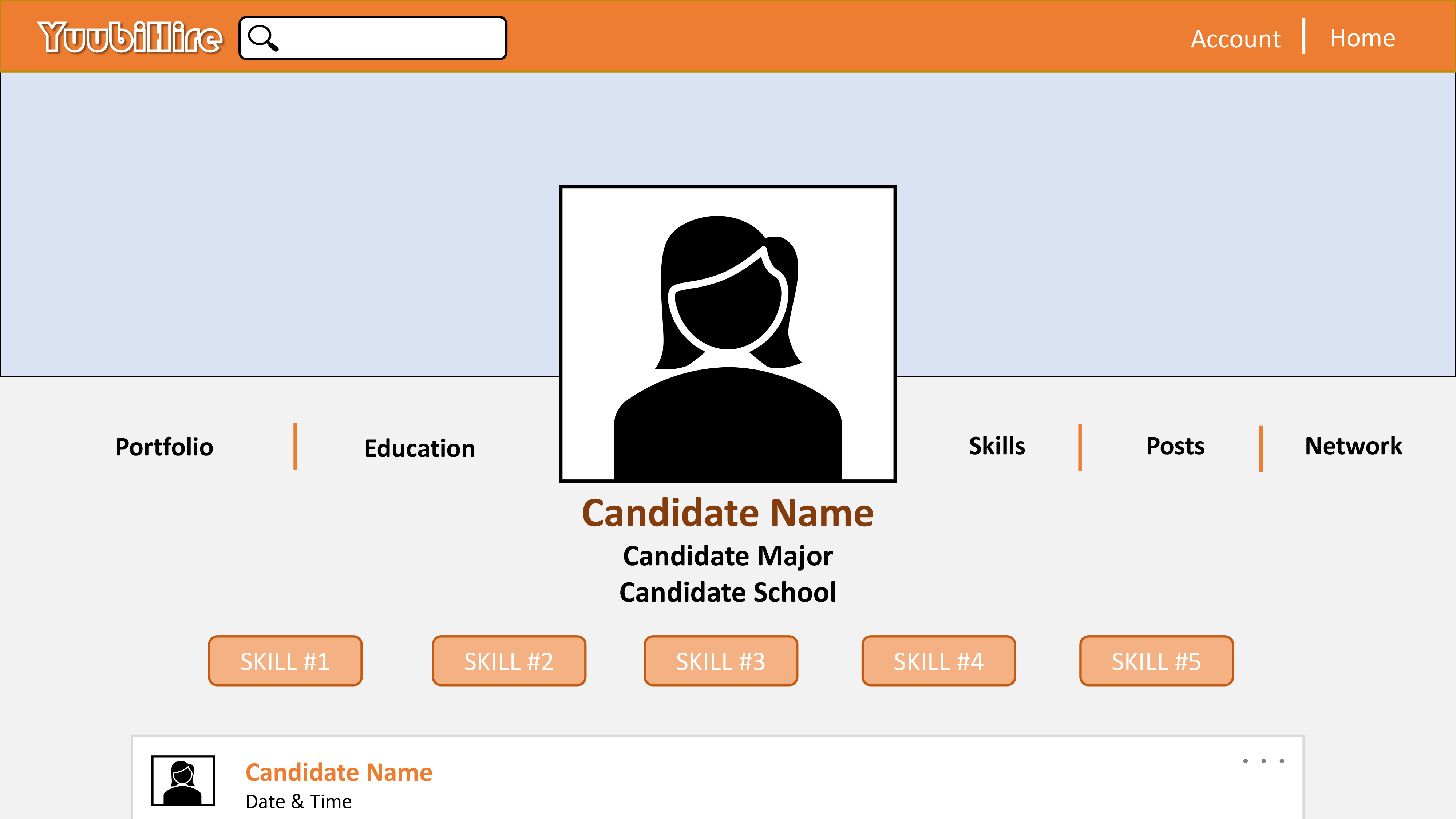 candidate webpage