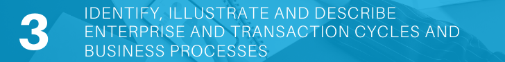 Identify, illustrate and describe enterprise and transaction cycles and business processes