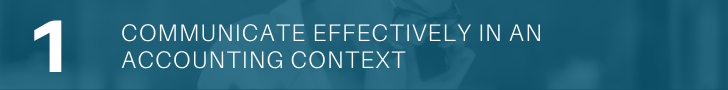 Communicate effectively in an accounting context