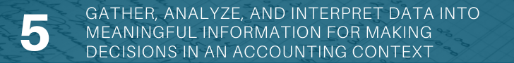 Gather, analyze, and interpret data into meaningful information for making decisions in an accounting context