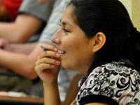 engaged female student
