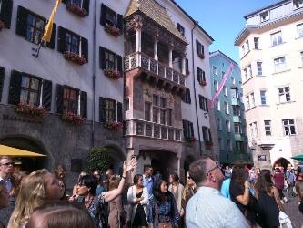 Viewing Innsbruck sights