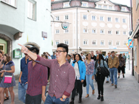 students touring innsbruck