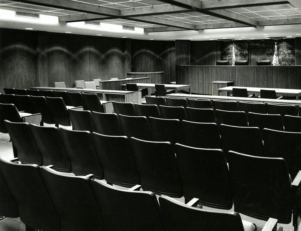 Sebring Courtroom in 1976