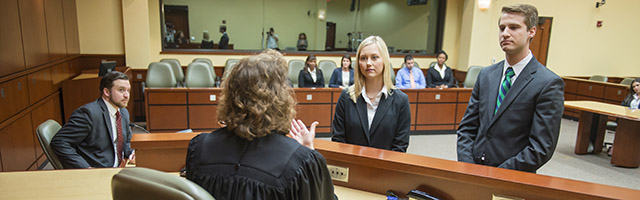 Professor Rose instructs a Stetson law student