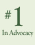 number 1 in advocacy