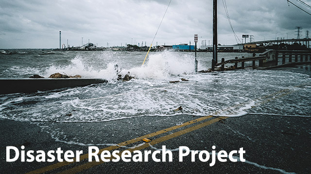 Flooded street during Hurricane Harvey - Disaster Research Project