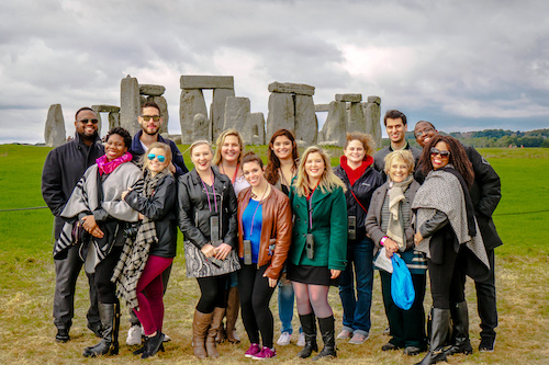 Group of Stetson Law students at Stonehenge