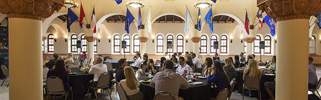 Students in Great Hall at Stetson University College of Law