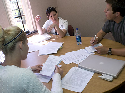 study group in library