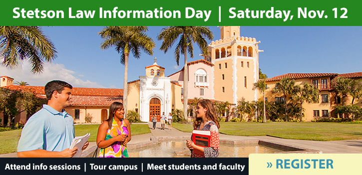 click to link to attend Stetson Law Information Day