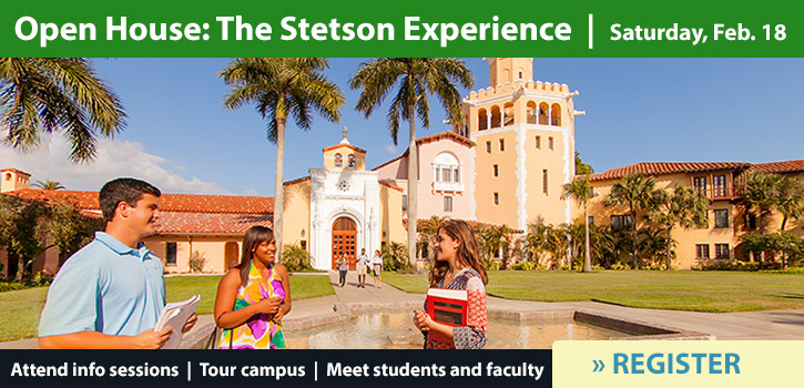 Open House Stetson Experience on February 18 at Stetson Law