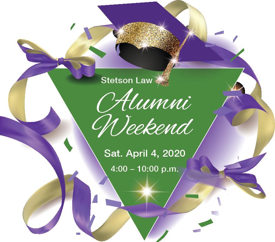 Stetson Law Alumni Weekend Saturday, April 4, 2020, 4 – 10 p.m. Gulfport, Florida
