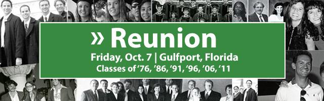 Reunion Friday October 7 at Gulfport Campus