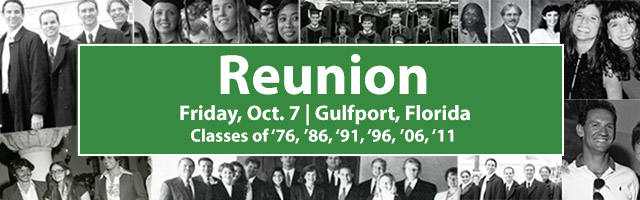 Stetson Law Reunion October 7 at Gulfport Campus