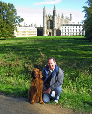 Professor Fitzgerald with dog