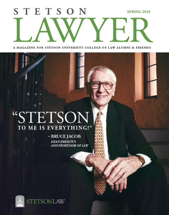 Spring 2018 Stetson Lawyer magazine cover