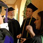 Stetson Law graduates gather in Crummer Courtyard