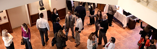 participants gather during a Stetson Law CLE event