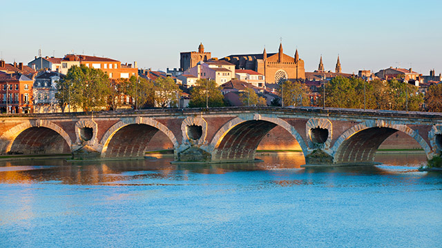 Toulouse, France, with river.
