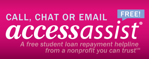 call chat or email access assist - free student loan repayment helpline