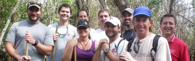 students and professors at Big Cypress swamp