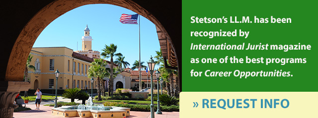 Request information about Stetson's LLM in International Law