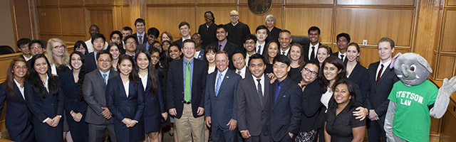Participants in Stetson's International Environmental Moot Court Competition.