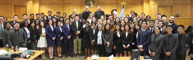 Participants in Stetson's International Environmental Moot Court Competition