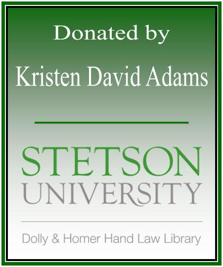 Donated by Kristen David Adams