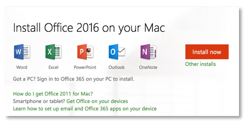 Installing Office 2016 (Mac) via Office365
