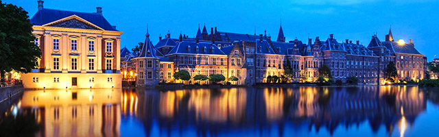 The Binnenhof at night