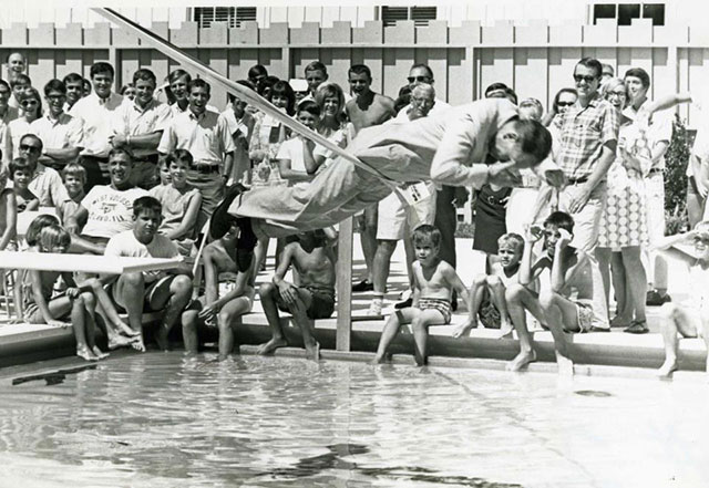Swimming pool opens