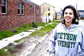 Student in Sweatshirt