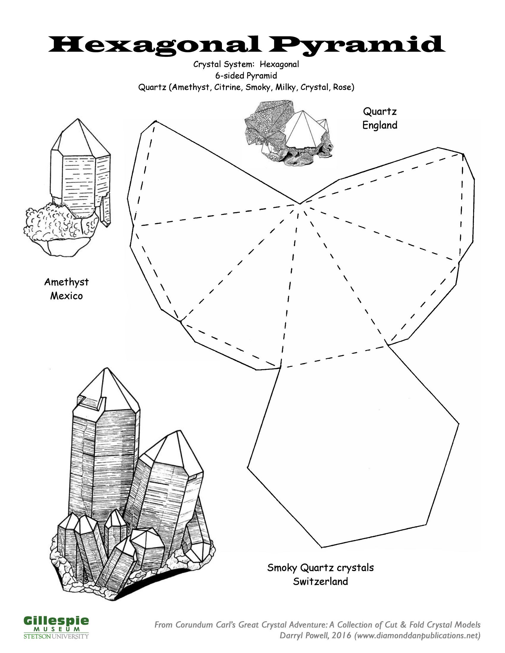crystal hexagonal pyramid